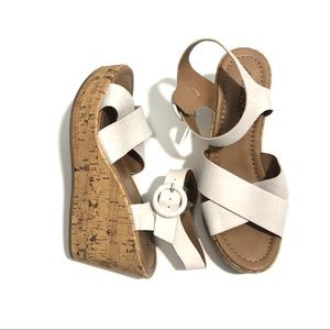 AMERICAN EAGLE 7.5 Strappy Open Toe Wedge Sandals